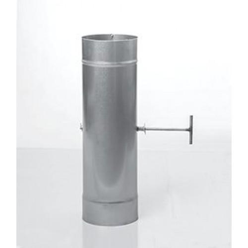 Заслонка поворотная AISI 439 для дымохода из нержавеющей стали