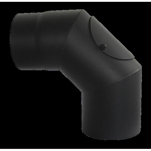 Отвод КПД 90 градусов с ревизией сталь 2 мм.