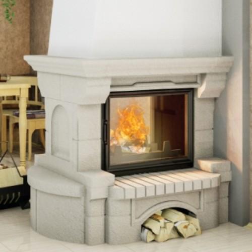 Пристенно-центральная каминная каминная облицовка ВАЛЬС 700
