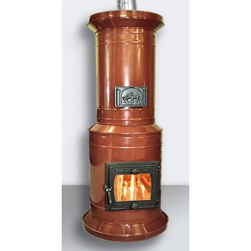 Круглая отопительная печь в металлическом корпусе ПКО - 15