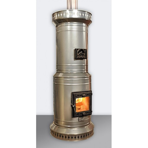 Круглая отопительная печь в металлическом корпусе ПКО - 20