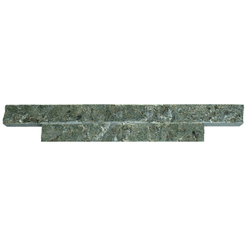 Облицовочная плитка из серпентинита «ДИКИЙ КАМЕНЬ» (рваный камень, скала) 200x50x25 мм