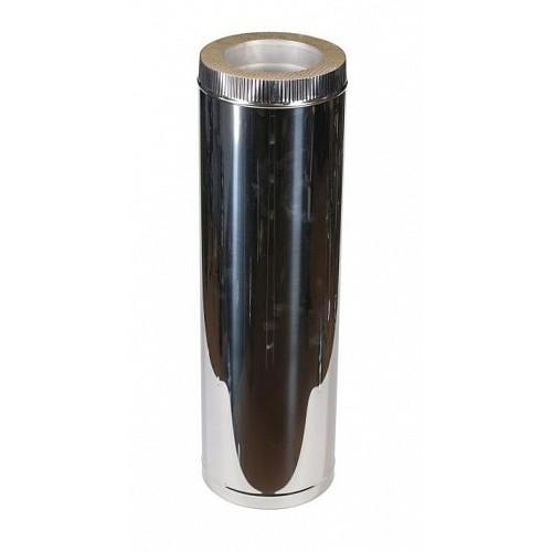 Труба сэндвич 2T (1000 мм) AISI 409/430 из нержавеющей стали для дымохода