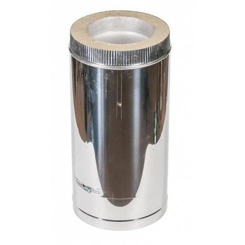 Труба сэндвич 2T (500 мм) AISI 409/оцинковка для дымохода